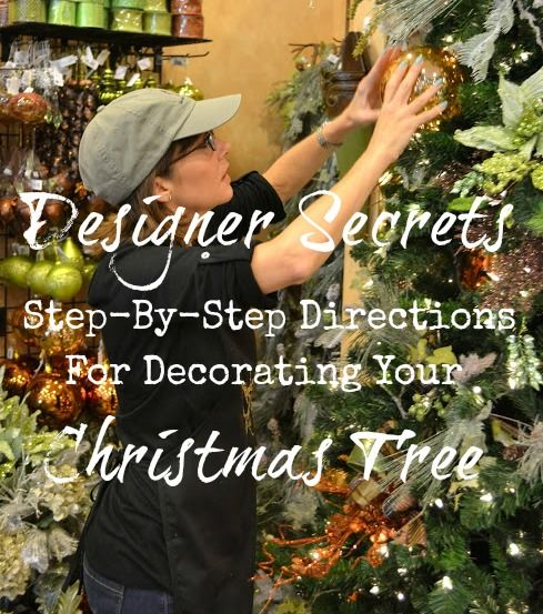 Step-by-step directions from professional Christmas designers for decorating a Christmas tree.  These tips can be used no matter what the style of your tree.