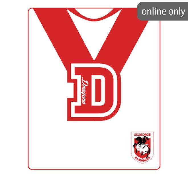 nrl-team-logo-polar-fleece-printed-155x127cm-throw-st-george-illawarra-dragons
