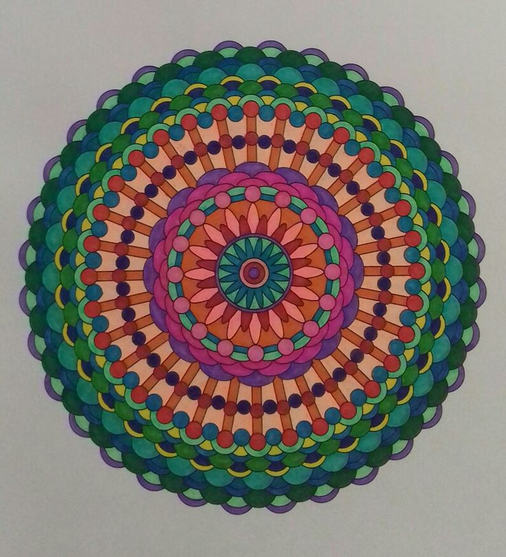Week 57 / 14052017, mandala design vol. 2 by Jenean Morrison coloured by Artemis Anapnioti.