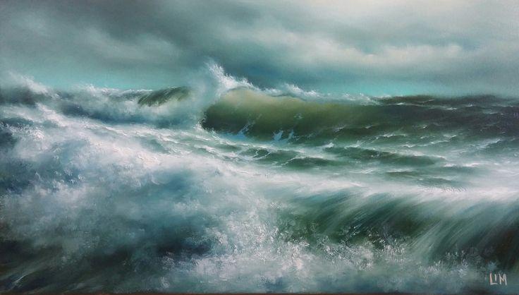 живопись - морской пейзаж, купить картину Волны балтики