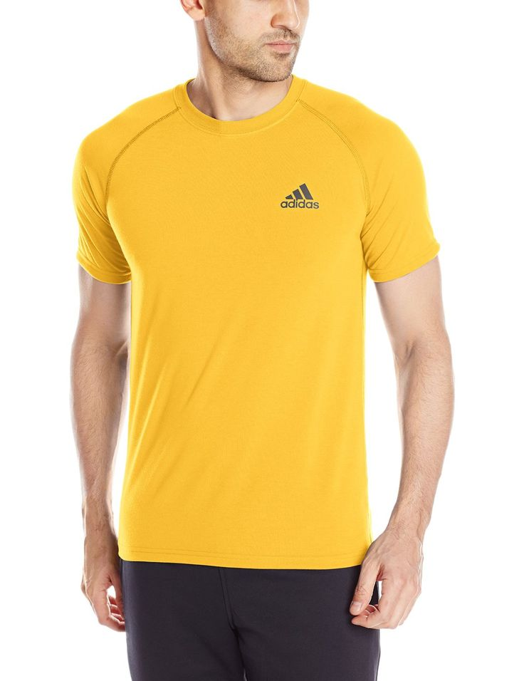 Adidas Men's Ultimate Short-Sleeve T-Shirt. Fabric Imported Breathable training shirt featuring raglan-seamed short sleeves and logo at left chest.