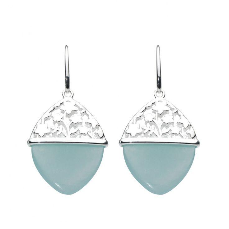Aster Blue Jade Earrings