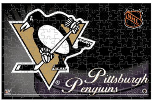 With this 150-piece puzzle. When completed, the image boasts a team name on the top and a team logo helmet on the left side for the perfect display of Penguins pride! - 150-Piece puzzle - Approximatel