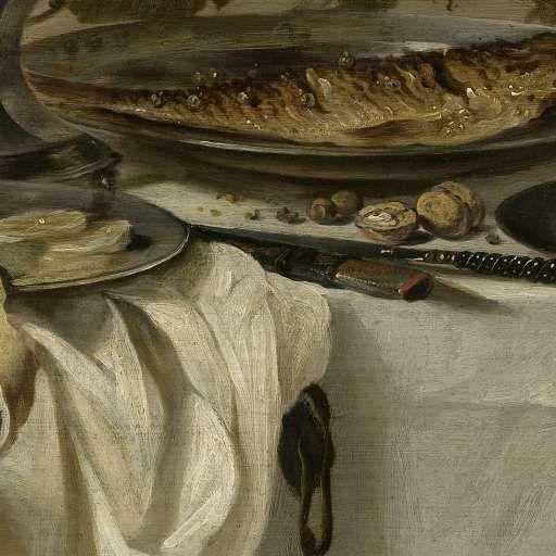 Stilleven met een vis, Pieter Claesz., 1647 - Still lifes - Works of art - Explore the collection - Rijksmuseum