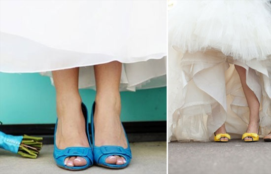 zapatos de colores novia