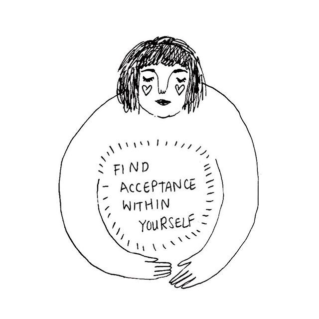 Accept yourself, even if others don't. // by artist Frances Cannon