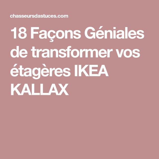 18 Façons Géniales de transformer vos étagères IKEA KALLAX
