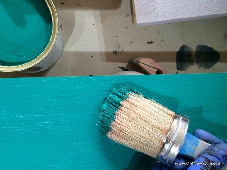 Chalk Paint decorative paint by Annie Sloan Graphite & Florence / farby Annie Sloan Chalk Paint Grapgite i Florence / anniesloanpoland / oldnewstyle.com / sekretarzyk / witryna