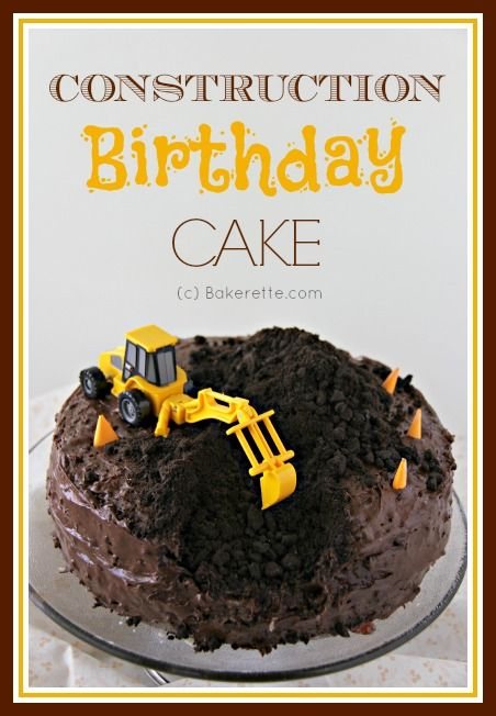 Take a look at the coolest construction birthday cake with a step-by-step pictorial on how to make. Bakerette.com