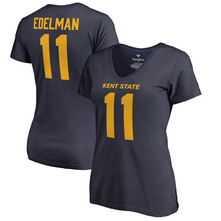 Julian Edelman Kent State Golden Flashes Fanatics Branded Women's College Legends Name & Number T-Shirt - Navy