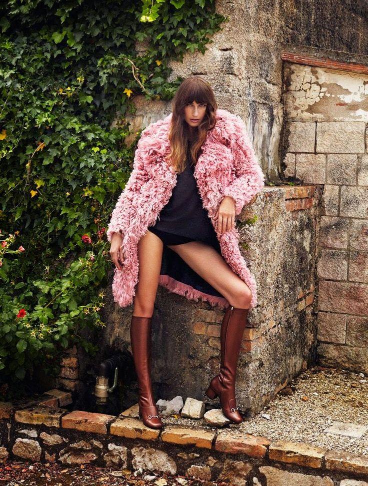 Eugenia Volodina for Elle Spain August 2014 by Xavi Gordo