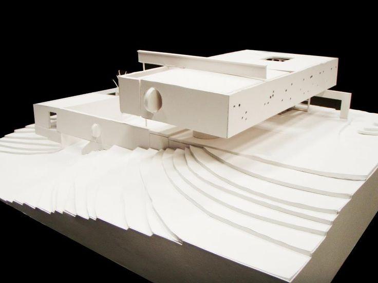 OMA Maison à Bordeaux France, 1998, architectural model