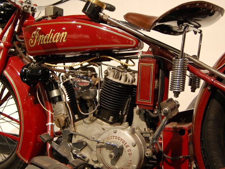 V twin engine 1927 Indian Steve McQueen pic by Partywave