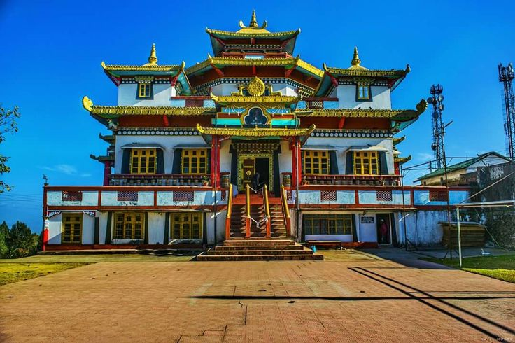 Durpin Monastery One of the most iconic Buddhist Architecture. A Day sightseeing from the picturesque hill town Kalimpong,Darjeeling,West Bengal.