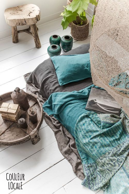 Bedroom colors - blue, green, grey