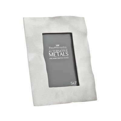 """Philip Whitney Alternative Metals Frosted Crush Picture Frame Size: 5"""" x 7"""""""