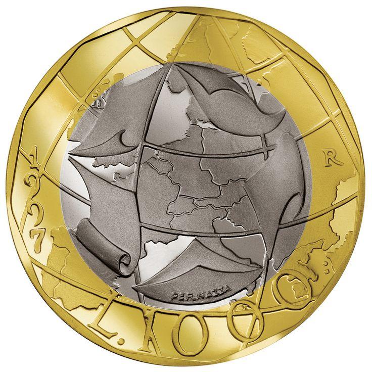 1000 Lire 1997 Europa confini errati