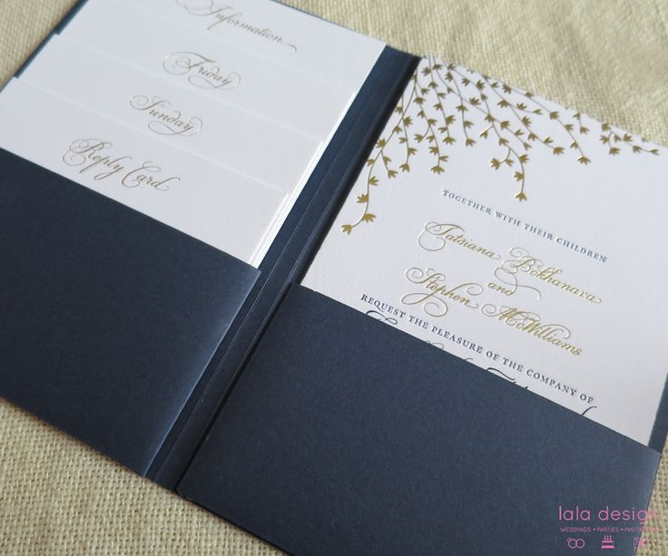 Tatsiana & Stephen Custom Made Pocket Folder