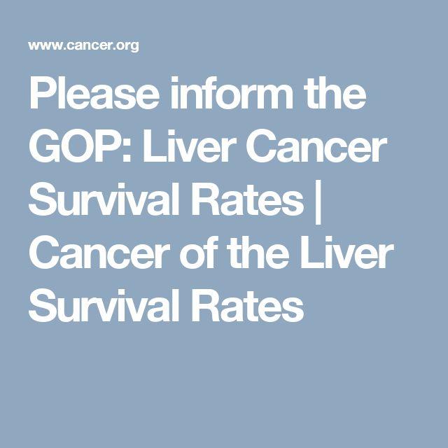 Please inform the GOP: Liver Cancer Survival Rates | Cancer of the Liver Survival Rates