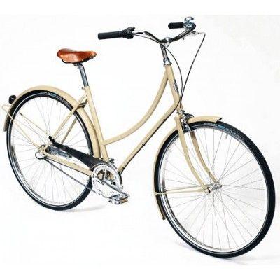 Pelago Brooklyn damesykkel - Latte - 8 gir - Tråbrems