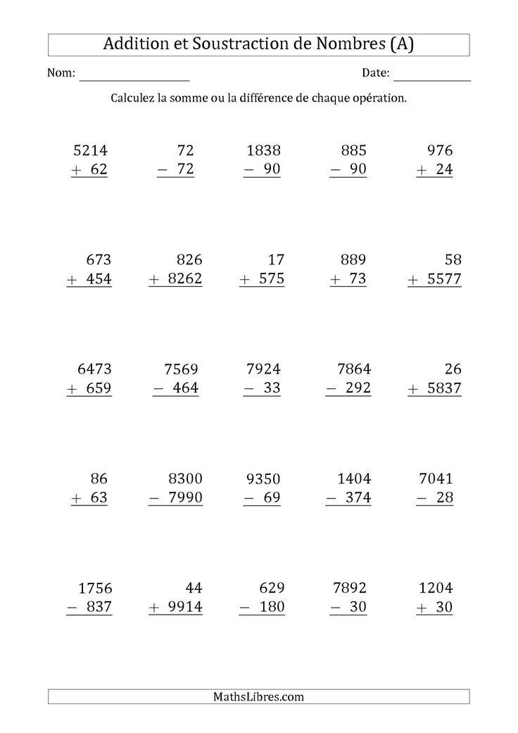 161 best nouvelles fiches d 39 exercices images on pinterest - Exercice multiplication a imprimer ...