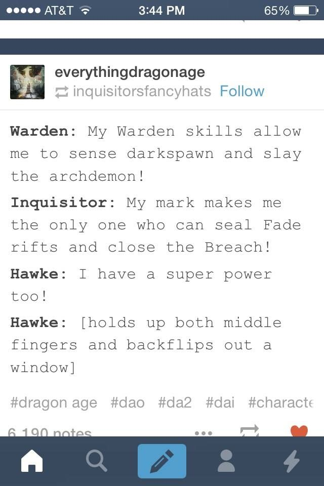 Hawke's superpower: Scathing sarcasm and poorly timed jokes. Works like a charm
