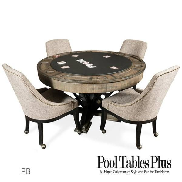 Milan Poker Table 4 Chairs In 2020 Game Table Chairs Rustic