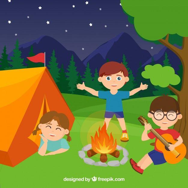Fondo De Campamento De Verano Con Chicos Free Vector Freepik Freevector Fondo Ninos Verano Naturaleza Campamento De Verano Verano Vectores Gratis