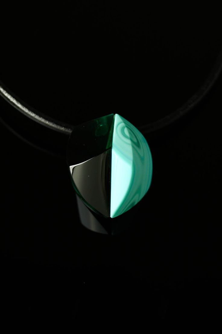 Handmade Glass Green Necklace by Ondřej Oliva - FREE SHIPPING by OlivaGlass on Etsy