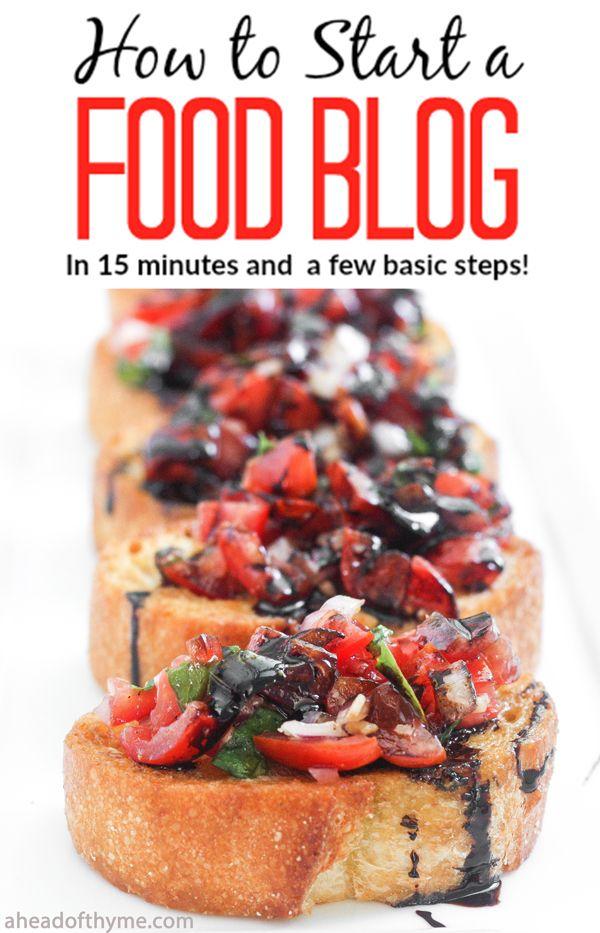 want start food blog where begin