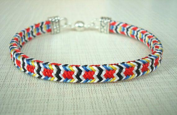Elegant bracelet Woven bracelet Bright от WorkshopKumihimo на Etsy