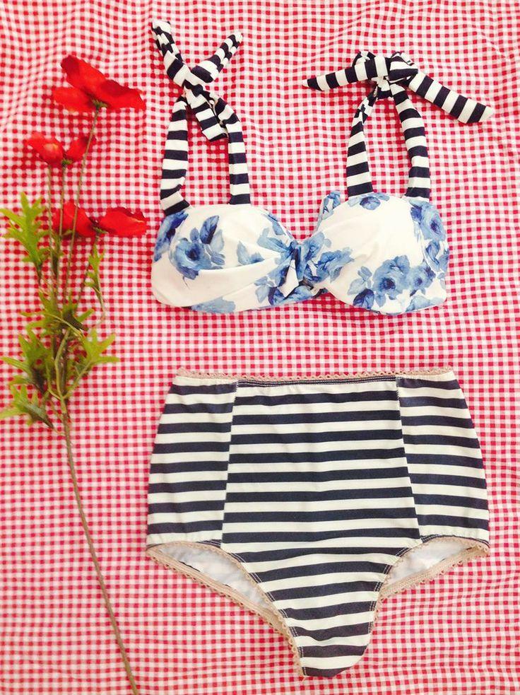 STRIPES & FLOWERS   SAILOR MOON bikini will steal your heart!!! Tags: madame shou shou