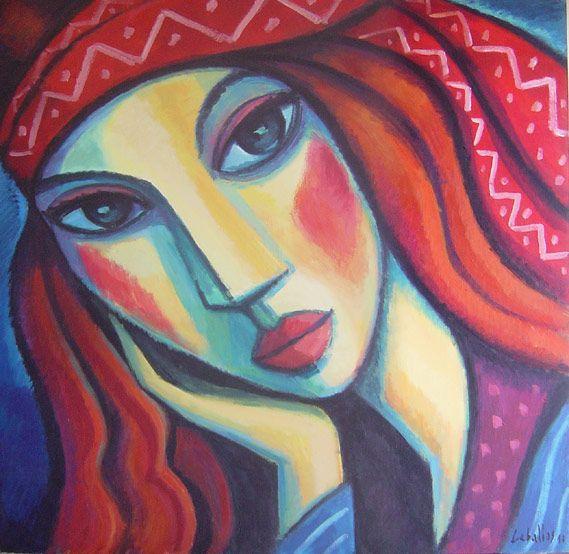 Hippie (2010) Acrílico sobre madera, 100x100 cm Guillermo Martí Ceballos