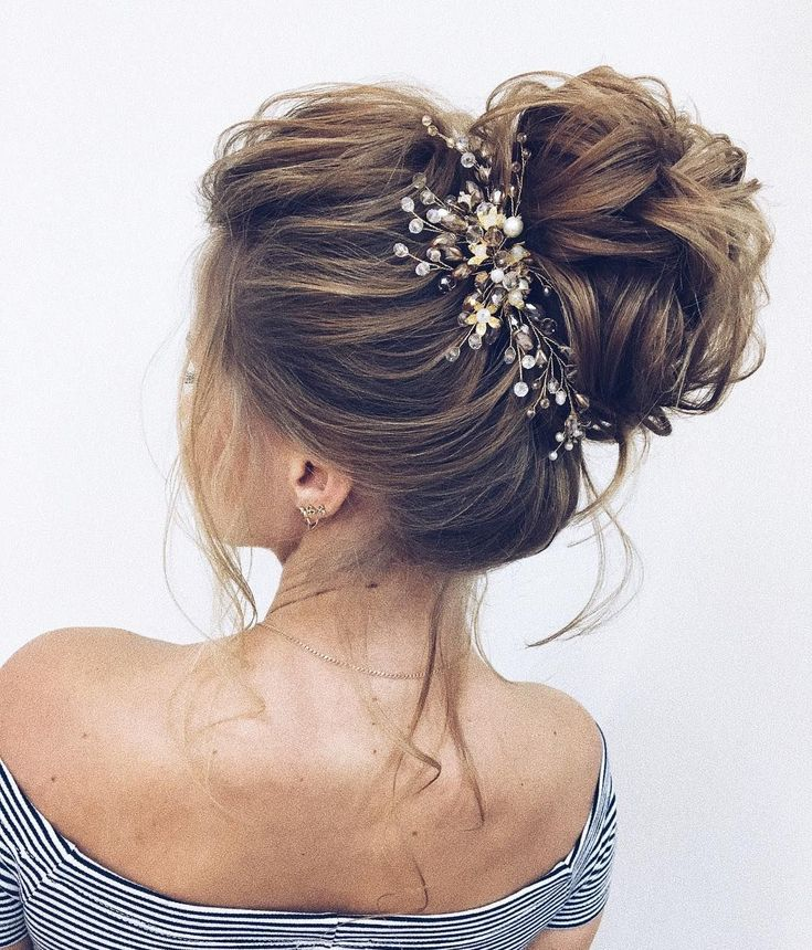 These Gorgeous Updo Hairstyle That You'll Love To Try! Whether a classic chignon, textured updo or a chic wedding updo with a beautiful details. These wedding updos are perfect for any bride looking for a unique wedding hairstyles...