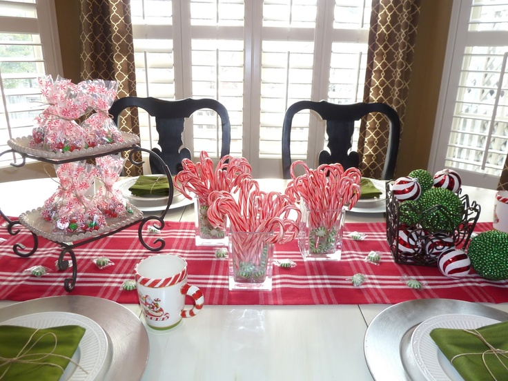 12 Best Images About Christmas Table Decorations On