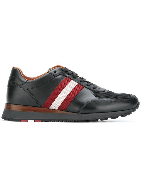 BALLY Contrast Stripe Trainers. #bally #shoes #sneakers