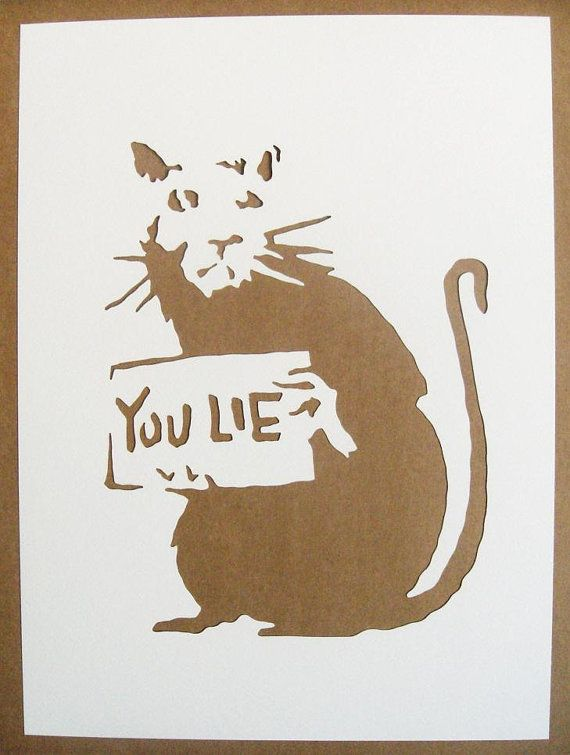 BANKSY Rats Stencils Set Of Five Catapult Drilling by existencil