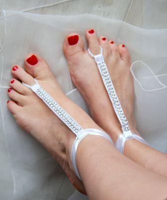 Barefoot sandals summer wedding beach wedding