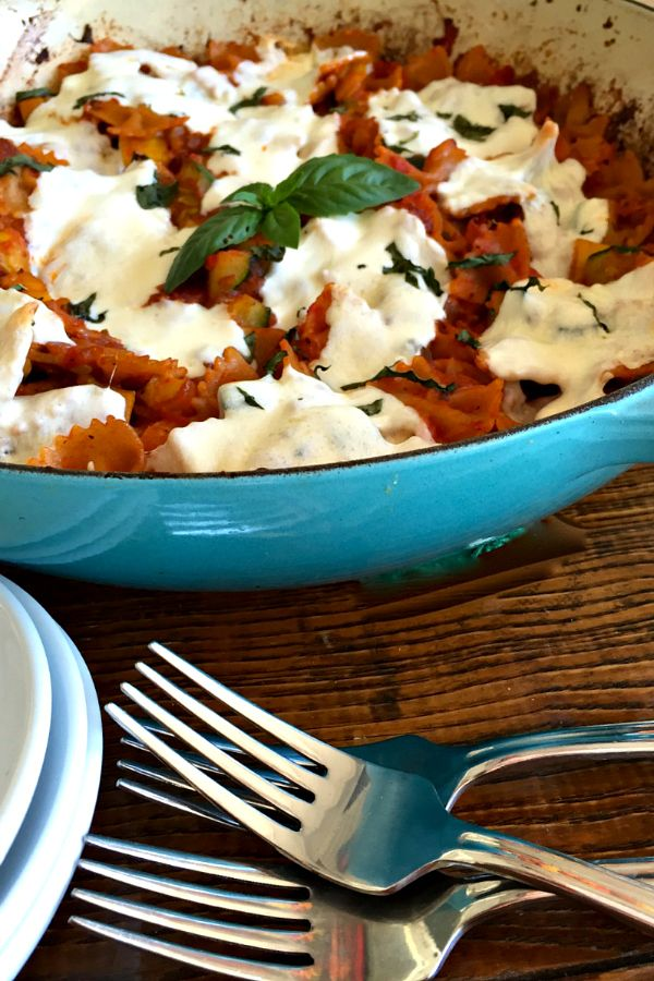 One-Pot Vegetarian Pasta Bake at ReluctantEntertainer.com