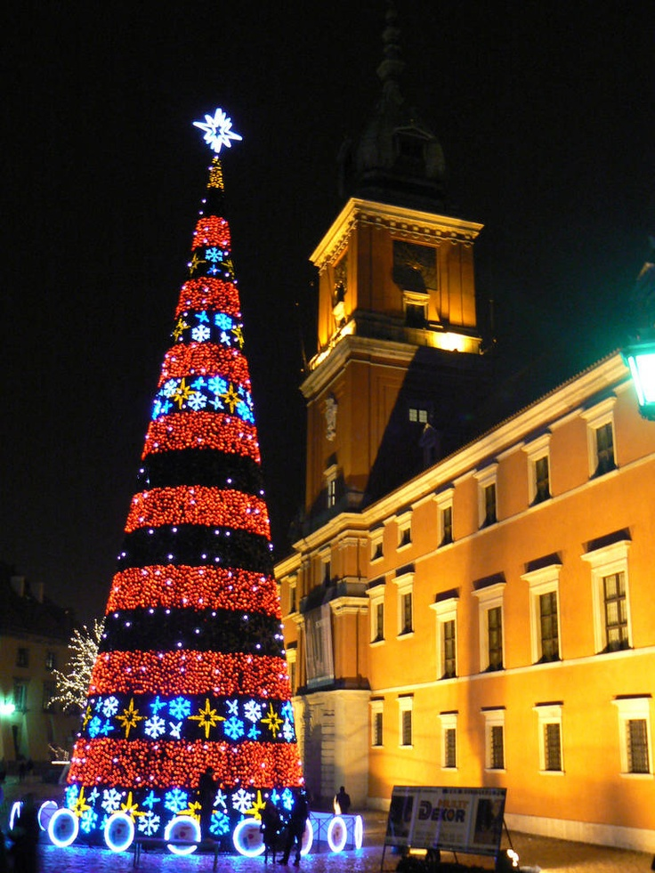 Christmas at Castle Market Square Warsaw Poland