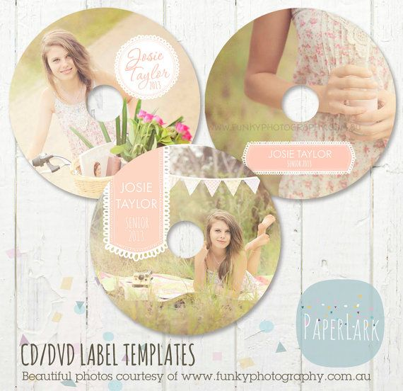 cd dvd label photoshop templates eb008 instant download cd labels peaches and banners. Black Bedroom Furniture Sets. Home Design Ideas