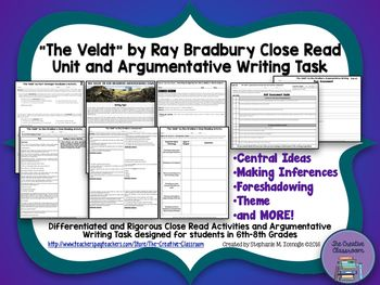 best the veldt short story ideas fahrenheit   the veldt by ray bradbury close reading argumentative writing task unit
