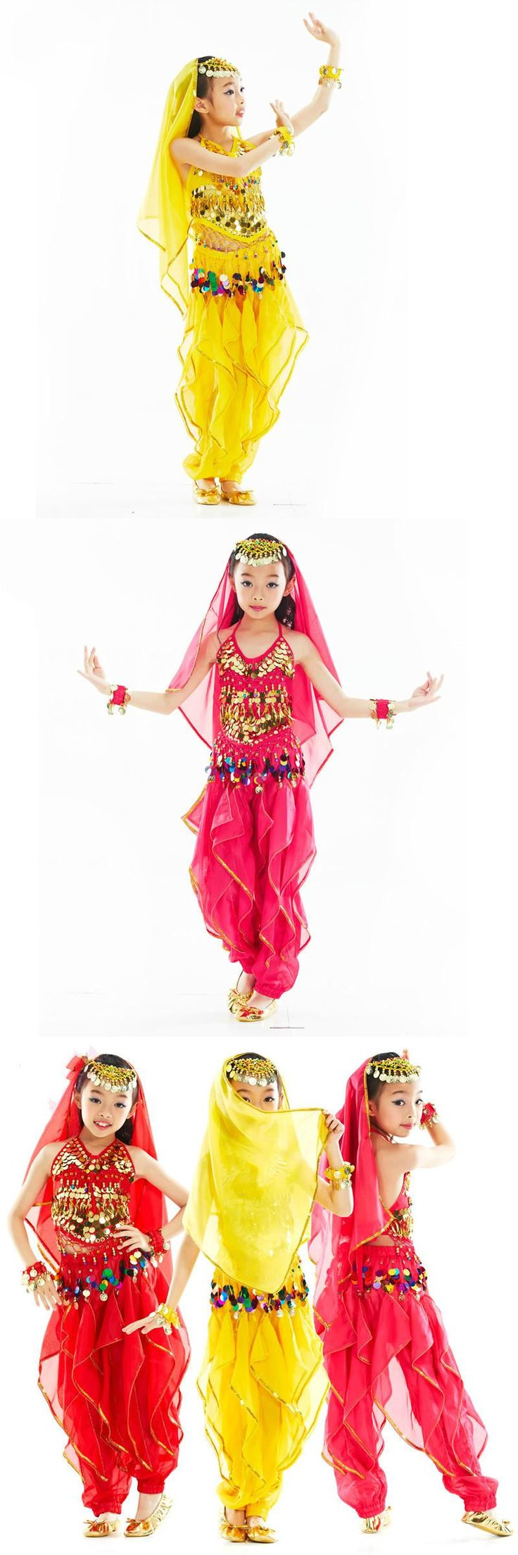 Children 3 Color Belly Dance Costume Bollywood Costume Indian Dress Bellydance Dress Belly Dancing Costume Sets