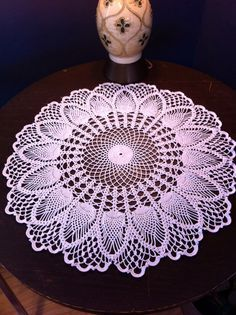 after working on it off and on for years, I finally finished this doily!
