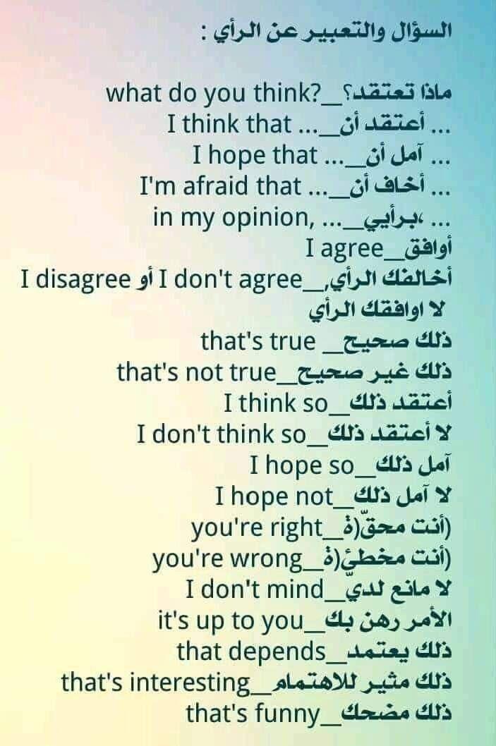 Learning Arabic Msa Fabiennem English Words Arabic Language Arabic Sentences