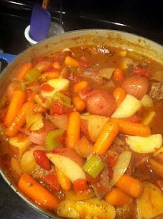 Dutch oven beef stew.  This was amazing!