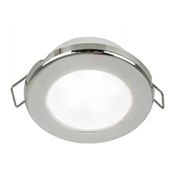 Hella Marine EuroLED 75 3 Round Spring Mount Down Light - White LED - Stainless Steel Rim. EuroLED 75 3 Round Spring Mount Down Light - White LED - Stainless Steel Rim - 12VStylish, reliable and energy efficient, these lamps will provide excellent illumination to enhance interior and exterior spaces.The EuroLED 75 uses a highly efficient optical system that produces a very wide and even illumination that is specifically designed to reduce individual light source glare, which can lead to…