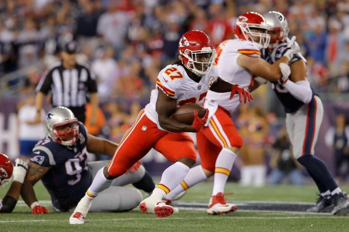 Kareem Hunt fumbled his 1st NFL carry but made up for it with 2 touchdowns