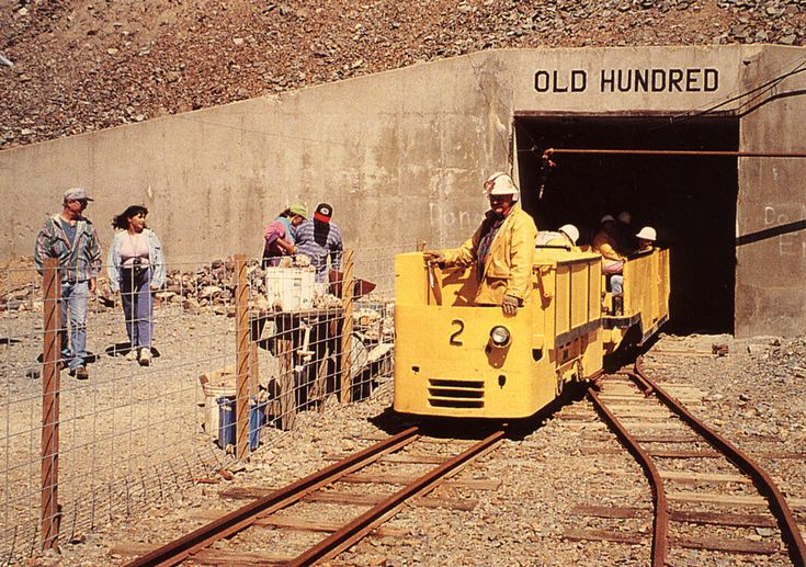 Mine Tram at the Old Hundred Gold Mine Tour, The Colorado Vacation Directory