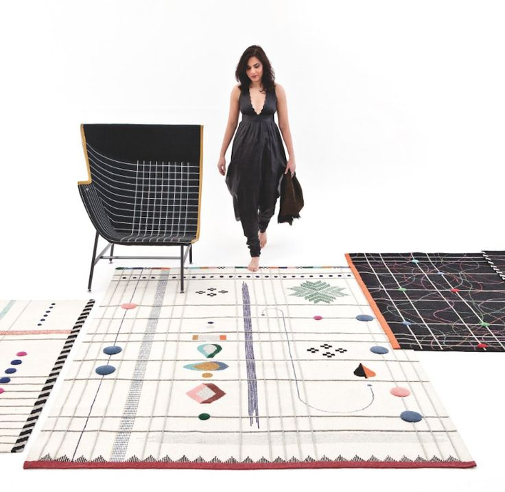 Doshi Levien designed for @Nanimarquina a hand-woven #carpet collection according to Indian #craftsmanship techniques.  http://www.archipanic.com/hand-woven-design-rugs/ Ph. Courtesy of nanimarquina.